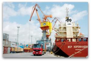 Cảng biển phục vụ hàng Xuất nhập khẩu
