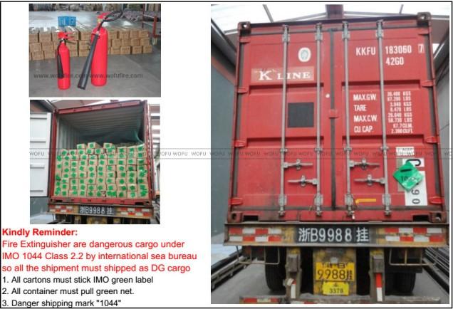 Vận chuyển bình chữa cháy nhập khẩu