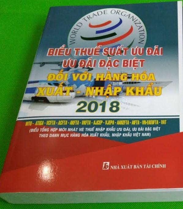 Biểu thuế xuất nhập khẩu 2018