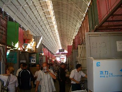 Shopping mall by containers