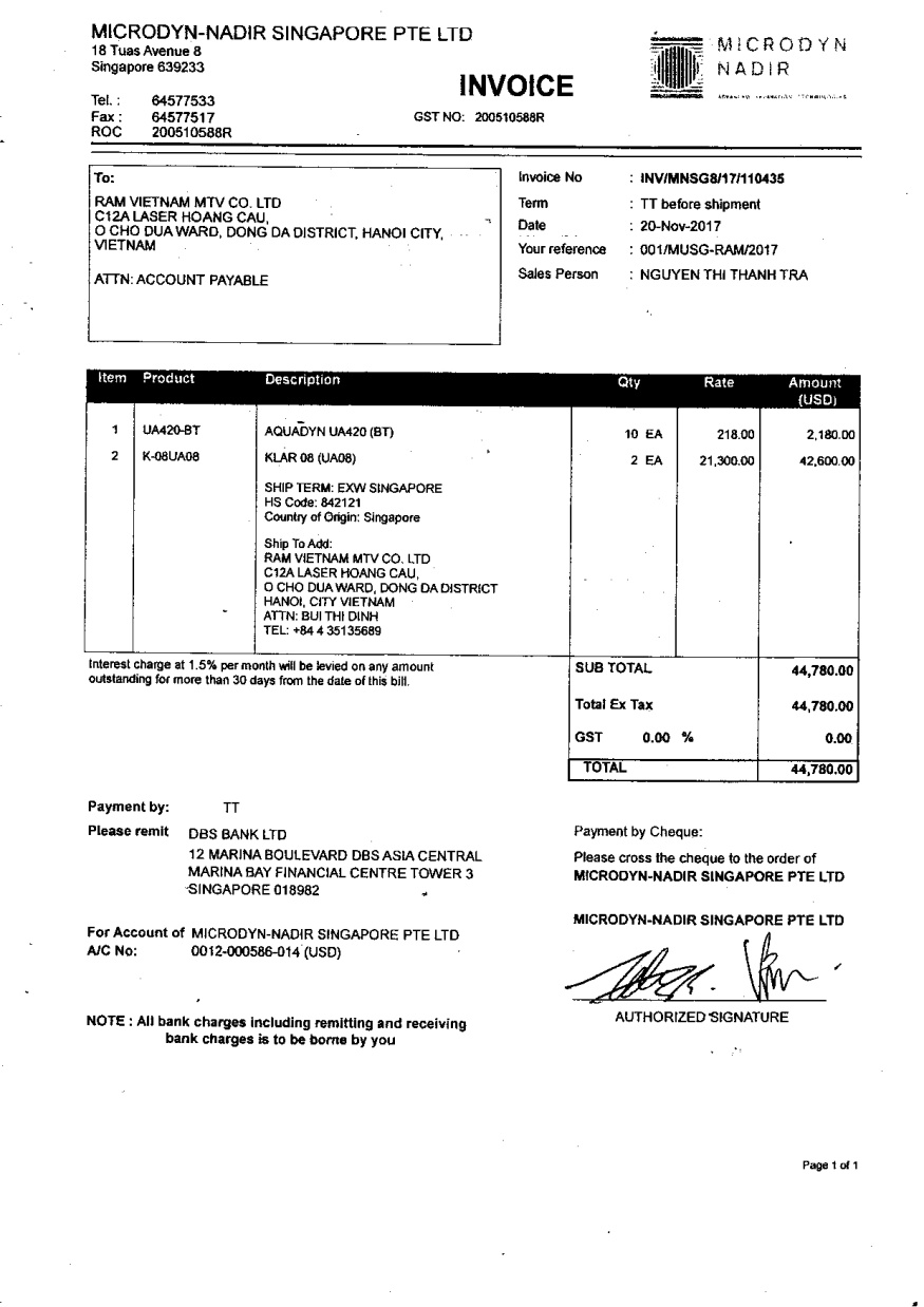 Commerical Invoice
