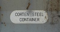 Corten Steel mark on container